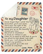 Big hug-Never forget that I love U Mom-To-Daughter Sherpa Fleece Blanket tile