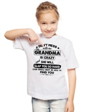 Don't Mess With Me My Grandma Is Crazy Youth T-Shirt lifestyle-youth-tshirt-front-2