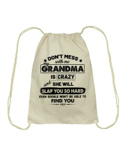Don't Mess With Me My Grandma Is Crazy Drawstring Bag thumbnail