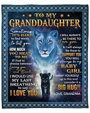 "Its hard to find word- Grandma-To-Granddaughter Fleece Blanket - 50"" x 60"" front"