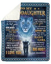"Its hard to find word- Grandma-To-Granddaughter Sherpa Fleece Blanket - 50"" x 60"" thumbnail"