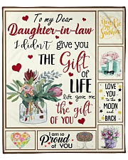 """Dear Daughter-In-Law Life Gave Me The Gift Of You Fleece Blanket - 50"""" x 60"""" front"""