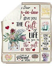 Dear Daughter-In-Law Life Gave Me The Gift Of You Sherpa Fleece Blanket tile