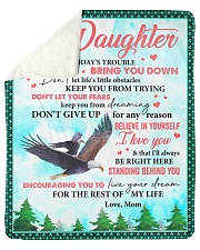 Don't Let Today's Trouble Eagles Mom To Daughter Sherpa Fleece Blanket tile