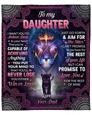 "I Want U To Belive Deep Lion Dad To Daughter Fleece Blanket - 50"" x 60"" front"