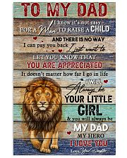Dad Lion You'll Always Be My Dad My Hero I Love U 11x17 Poster front