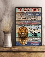 Dad Lion You'll Always Be My Dad My Hero I Love U 11x17 Poster lifestyle-poster-3