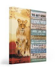 Lion- Never Forget That I Love U Mom-To-Son 16x20 Gallery Wrapped Canvas Prints thumbnail