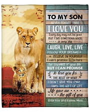 """Lion- Never Forget That I Love U Mom-To-Son Fleece Blanket - 50"""" x 60"""" front"""