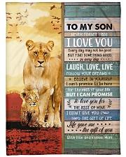 Lion- Never Forget That I Love U Mom-To-Son Fleece Blanket tile