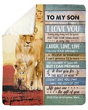 """Lion- Never Forget That I Love U Mom-To-Son Sherpa Fleece Blanket - 50"""" x 60"""" thumbnail"""