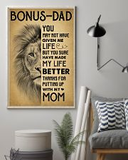 Bonus Dad - Thank for putting up with my mom 11x17 Poster lifestyle-poster-1