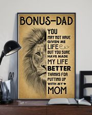 Bonus Dad - Thank for putting up with my mom 11x17 Poster lifestyle-poster-2