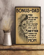 Bonus Dad - Thank for putting up with my mom 11x17 Poster lifestyle-poster-3