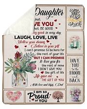 """Never Forget That I Love You - Dad To Daughter Sherpa Fleece Blanket - 50"""" x 60"""" thumbnail"""