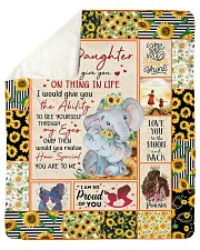 """If I could give U on thing in life Mom-To-Daughter Sherpa Fleece Blanket - 50"""" x 60"""" thumbnail"""