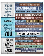 """I Love U More Than Anything In The World GM To GD Fleece Blanket - 50"""" x 60"""" front"""