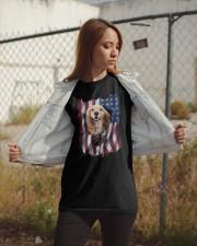 American Flag Cocker spaniel Classic T-Shirt apparel-classic-tshirt-lifestyle-07