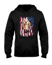 American Flag Cocker spaniel Hooded Sweatshirt thumbnail