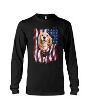 American Flag Cocker spaniel Long Sleeve Tee thumbnail