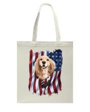 American Flag Cocker spaniel Tote Bag thumbnail