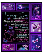 "Son Butterfly I'd Use My Last Breath To Say ILoveU Fleece Blanket - 50"" x 60"" front"