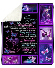 "Son Butterfly I'd Use My Last Breath To Say ILoveU Sherpa Fleece Blanket - 50"" x 60"" thumbnail"