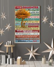 Daughter Be Brave Be Beautiful Just Do Your Best 11x17 Poster lifestyle-holiday-poster-1