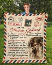 "If I Tell U I Need U Boyfriend To Girlfriend Fleece Blanket - 50"" x 60"" aos-coral-fleece-blanket-50x60-lifestyle-front-01a"