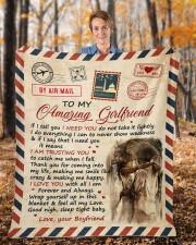 "If I Tell U I Need U Boyfriend To Girlfriend Fleece Blanket - 50"" x 60"" aos-coral-fleece-blanket-50x60-lifestyle-front-01b"