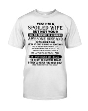 I'm A Spoiled Wife Of A Freaking Awesome Husband Classic T-Shirt thumbnail