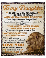 """Little Girl Yesterday Friend Today Dad To Daughter Fleece Blanket - 50"""" x 60"""" front"""