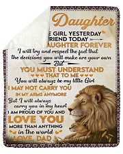 Little Girl Yesterday Friend Today Dad To Daughter Sherpa Fleece Blanket tile