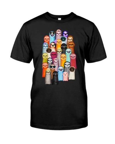 Sloths Colorful art