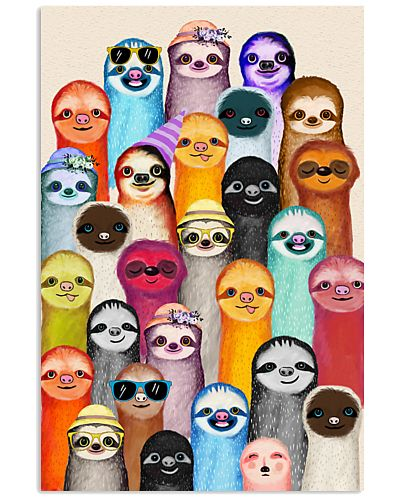 Sloths Colorful art