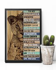 Daughter Lion Remember Straighten Your Crown 11x17 Poster lifestyle-poster-8