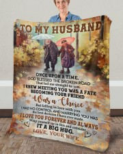 """Once Upon Time God Blessed Broken Road To Husband Fleece Blanket - 50"""" x 60"""" aos-coral-fleece-blanket-50x60-lifestyle-front-02a"""