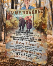 """Once Upon Time God Blessed Broken Road To Husband Fleece Blanket - 50"""" x 60"""" aos-coral-fleece-blanket-50x60-lifestyle-front-02c"""
