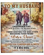 "Once Upon Time God Blessed Broken Road To Husband Fleece Blanket - 50"" x 60"" front"