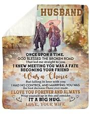 Once Upon Time God Blessed Broken Road To Husband Sherpa Fleece Blanket tile