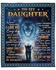 "Lion-Never Forget That I Love U Dad-To-Daughter Fleece Blanket - 50"" x 60"" front"