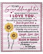 "Never Forget  I Love U Grandma To Granddaughter Fleece Blanket - 50"" x 60"" front"