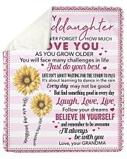 Never Forget  I Love U Grandma To Granddaughter Sherpa Fleece Blanket tile