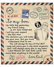 """My Girl Yesterday My Friend Today Dad To Son Fleece Blanket - 50"""" x 60"""" front"""