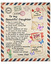 """Today Is A Good Day Have Great Day Dad To Daughter Fleece Blanket - 50"""" x 60"""" front"""