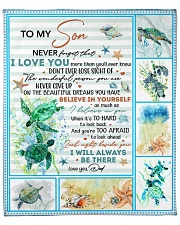 """Never Forget That I Love U-Turtle- Dad-To-Son Fleece Blanket - 50"""" x 60"""" front"""