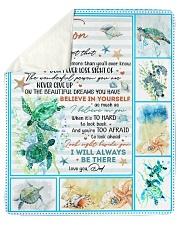 Never Forget That I Love U-Turtle- Dad-To-Son Sherpa Fleece Blanket tile