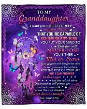 """I Want U To Believe Deep In Heart To Granddaughter Fleece Blanket - 50"""" x 60"""" front"""
