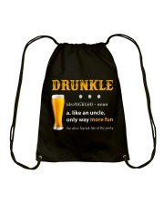 Drunkle Like An Uncle Only Way More Fun Drawstring Bag thumbnail