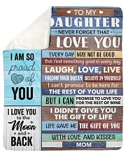 """Daughter Life Gave Me The Gift Of You I Love You Sherpa Fleece Blanket - 50"""" x 60"""" thumbnail"""